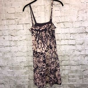 Lucky Brand Purple/Tan Sleeveless Dress Sz M